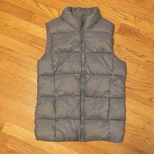 Girls Large (10/12) Dark Gray Puffer Vest